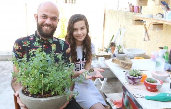 Lucas Amado e a filha, Nina: ideia da quarentena que veio para ficar mesmo para quando tudo normalizar