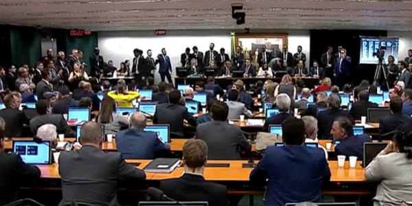 A sessão desta terça-feira da Comissão de Constituição e Justiça