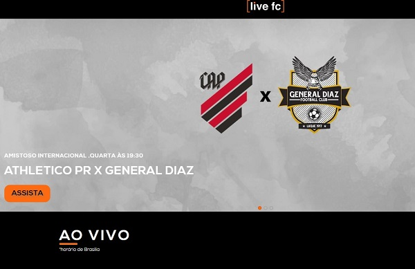 Athletico x General Díaz no Livefc: streaming