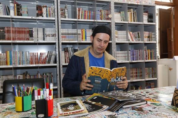 Fulvio Pacheco, coordenador da Gibiteca: local tem cerca de 183 mil visitas por ano