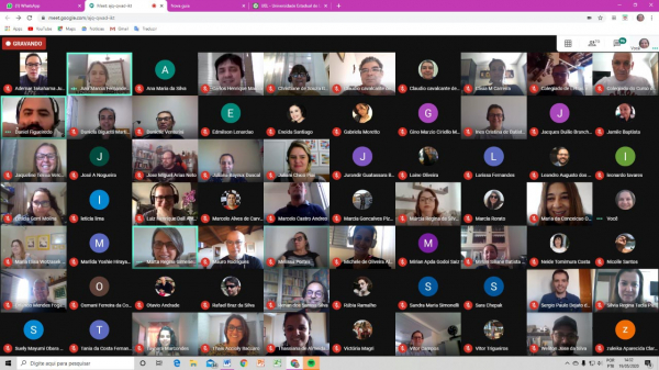 Reunião em videoconferência