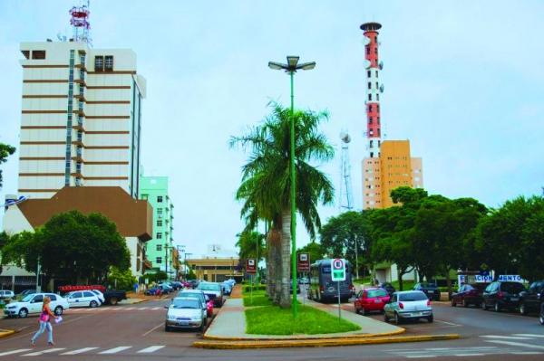 Centro de Toledo, cidade do oeste do Paraná