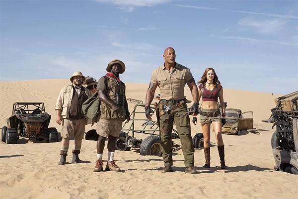 Jack Black, Kevin Hart, Dwayne Johnson e Karen Gillan: de volta à próxima fase de 'Jumanji'
