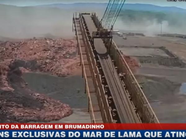 Momento do rompimento da barragem