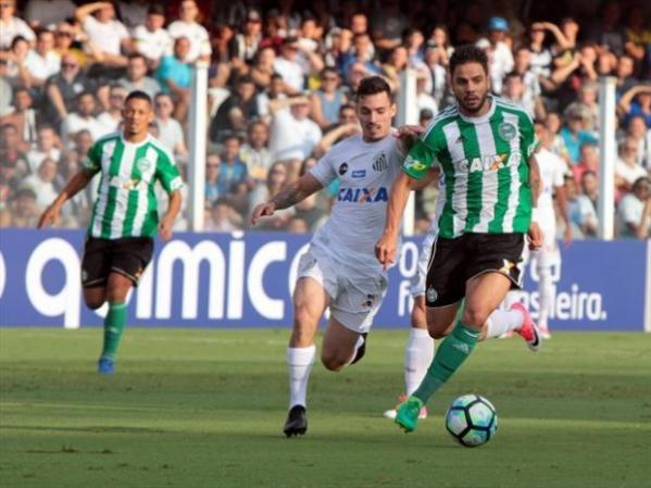 eb09ac0dccc5a Alecsandro perde pênalti e gol irregular decide vitória do Santos contra o  Coxa