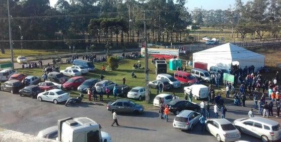 Manifestação no ano passado de petroleiros da Repar