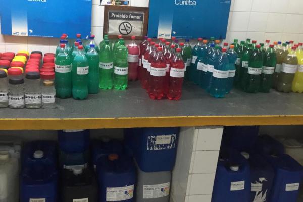 Os produtos de limpeza produzidos pelo Depen