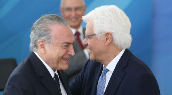Temer e Moreira: ex-presidente saiu ontem mesmo