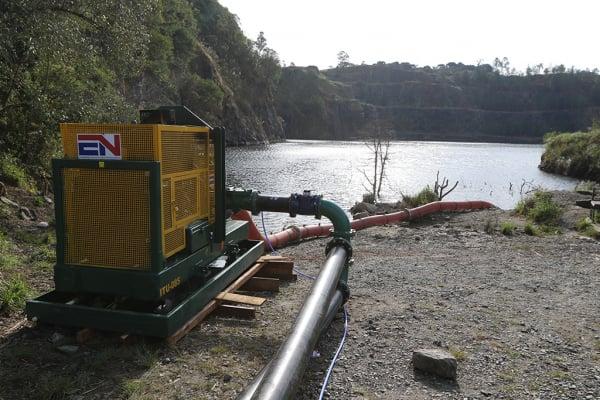 Sanepar capta água de pedreira em Campo Magro para amenizar situação do Passaúna