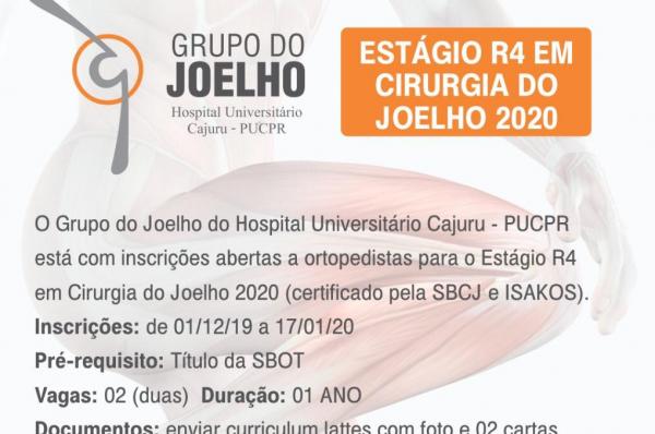 Hospital Universitário Cajuru abre inscrições para estágio em Ortopedia - Bem Paraná
