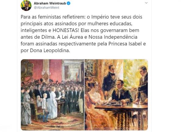Ministro em ação no Twitter