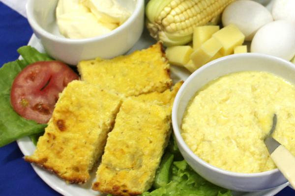 Sopa paraguaia com Chipa-Guasu é um dos pratos