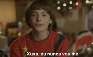 Will, de 'Stranger Things', manda vídeo de natal para Xuxa