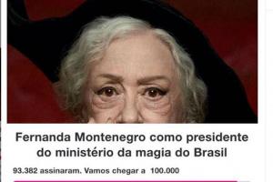 Fernanda Montenegro responde petição para participar de 'Animais Fantásticos 3'