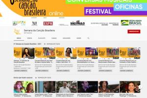 Sexta Semana da Canção Brasileira começa nesta segunda de forma virtual