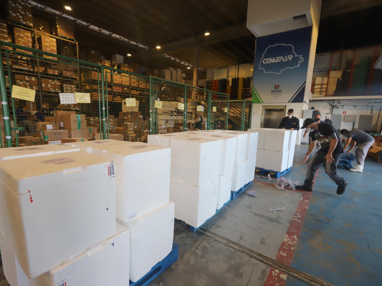 Paraná recebe mais 554,5 mil vacinas contra a Covid; maioria é para dose de reforço