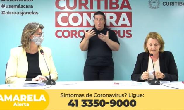 Secretaria de Saúde faz última live da Covid e mantém bandeira amarela em Curitiba