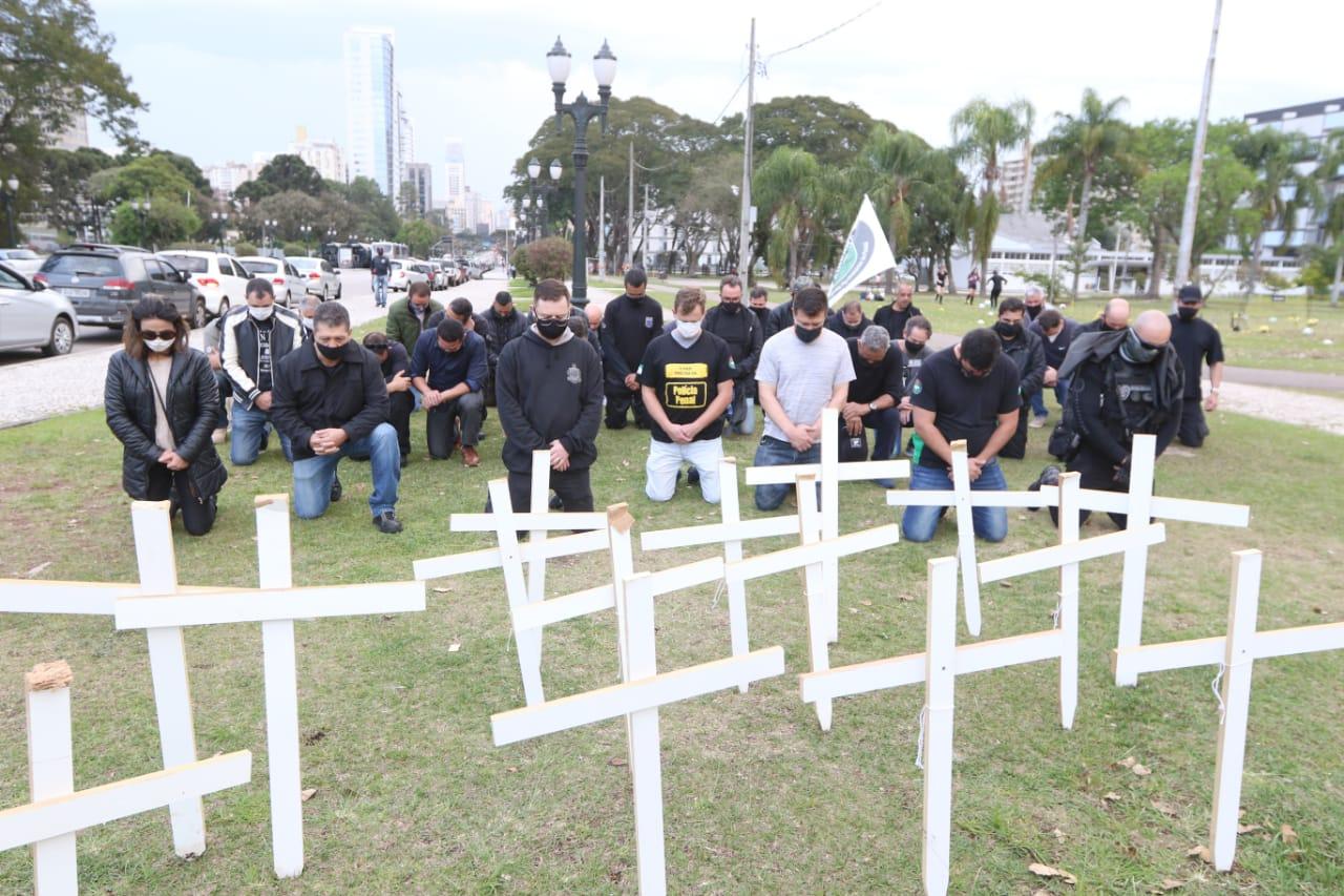 Em protesto por execução de agente penitenciário, Sindicato alerta que outros policiais estão ameaçados de morte