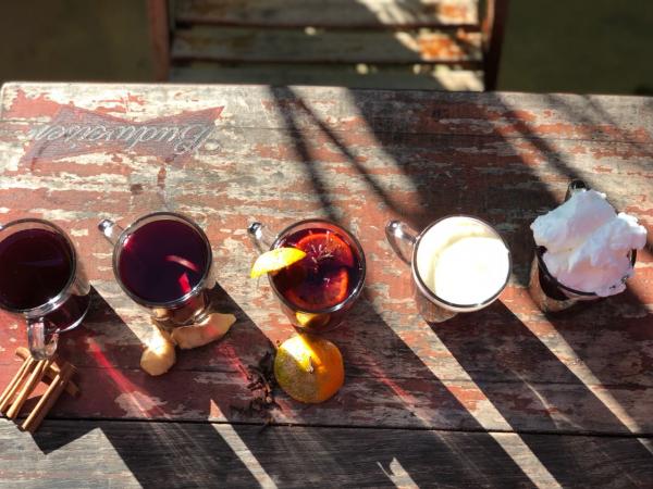 Várias opções de pinhão no Bar Quermesse.