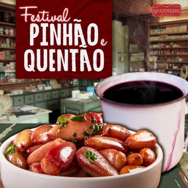 Cartaz do Festival de Quentão e Pinhão.