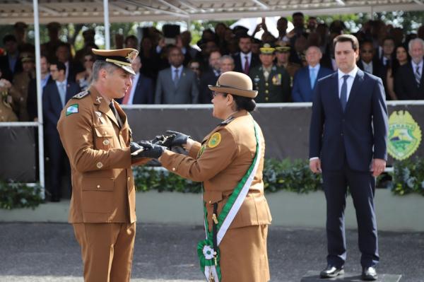 Coronel Péricles de Matos e a coronel Audilene Dias Rocha