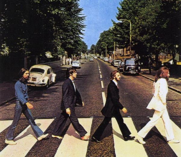 Capa de Abbey Road, dos Beatles.