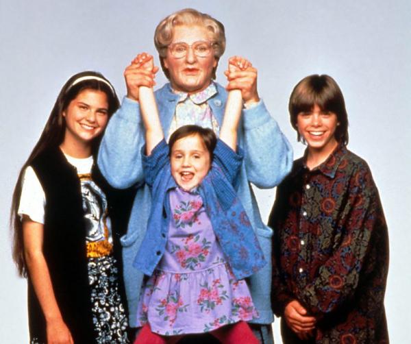 Robin Williams, em Uma Babá Quase Perfeita.